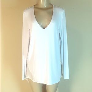 Heather by Bordeaux Tunic Top White Medium
